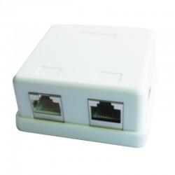 iggual - PSINCAC-FS-SMB2 Cat6 Blanco caja de conexiones de red