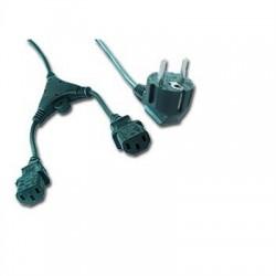 iggual - IGG311196 cable de transmisión Negro 2 m CEE7/7 Acoplador C13 2 x
