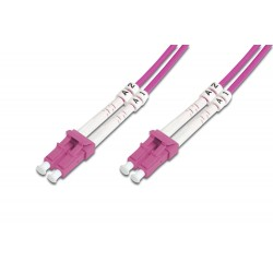 Digitus - LC/LC, 5 m cable de fibra optica Rosa