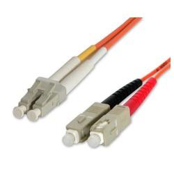StarTech.com - Cable Adaptador de Red de 3m Multimodo Dúplex Fibra Óptica LC-SC 50/125 - Patch Duplex