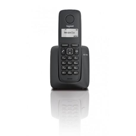 Gigaset - A116 DECT Identificador de llamadas Negro