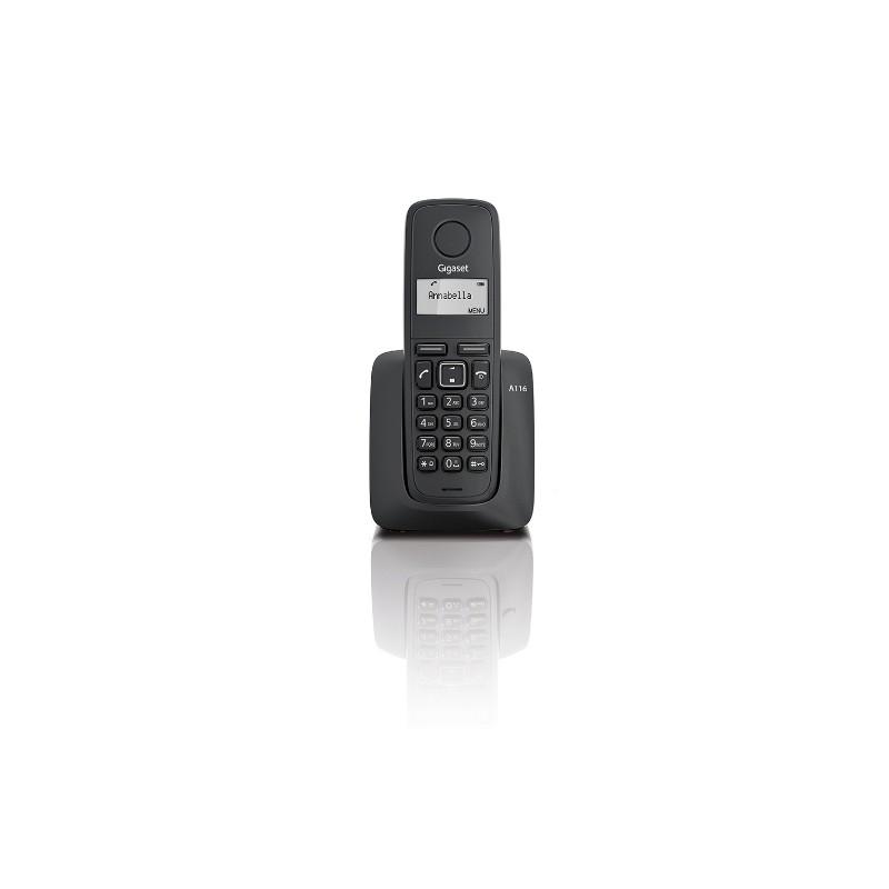 Gigaset - A116 Teléfono DECT Negro