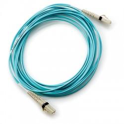 Hewlett Packard Enterprise - LC to LC Multi-mode OM3 2-Fiber 5.0m 1-Pack 5m LC LC Azul cable de fibra optica