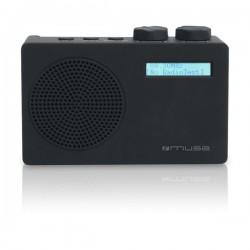 Muse - M-100 DB Portátil Analógico y digital Negro radio