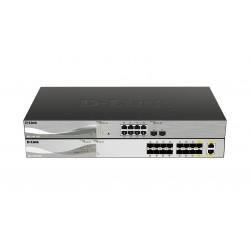 D-Link - DXS-1100-16SC switch Gestionado 10G Ethernet (100/1000/10000) Negro