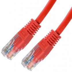 Nanocable - 10.20.0402-R cable de red 2 m Cat6e U/UTP (UTP) Rojo
