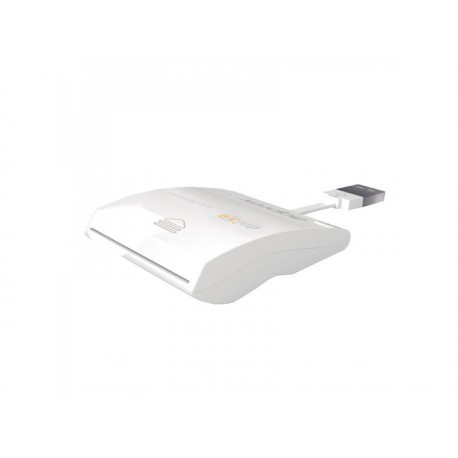 Approx - appCRDNILxV2 Interior USB 2.0 Color blanco lector de tarjeta inteligente