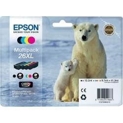 Epson - Polar bear Multipack 26XL 4 colores (etiqueta RF)