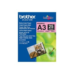 Brother - BP60MA3 Inkjet Paper A3 (297×420 mm) Mate Color blanco papel para impresora de inyección de tinta