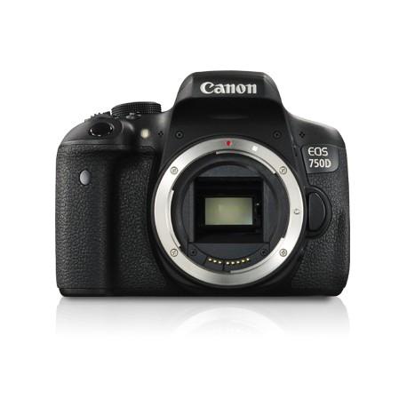 Canon - EOS 750D Cuerpo de la cámara SLR 24.2MP CMOS 6000 x 4000Pixeles Negro