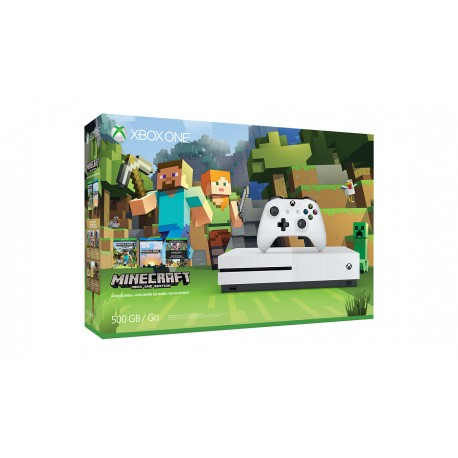 Microsoft - Xbox One S Minecraft Favorites Bundle (500 GB) 500GB Wifi Color blanco