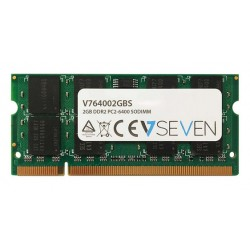 V7 - 2GB DDR2 PC2-6400 800Mhz SO DIMM Notebook módulo de memoria - V764002GBS