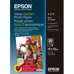 Epson - Value Glossy Photo Paper - 10x15cm - 20 Hojas