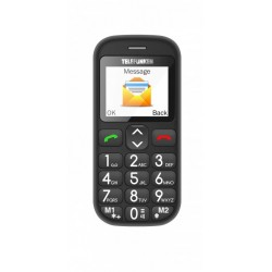 "Telefunken - TM 110 COSI 1.77"" 170g Negro Teléfono para personas mayores"