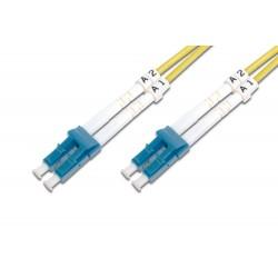 Digitus - LC/LC, 3 m cable de fibra optica Amarillo