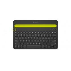 Logitech - K480 Bluetooth QWERTY Internacional de EE.UU. Negro, Amarillo teclado para móvil