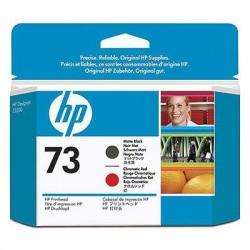 HP - Cabezal de impresión DesignJet 73 negro mate/rojo cromático