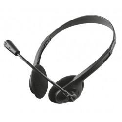 Trust - ZIVA CHAT HEADSET Binaural Diadema Negro auricular con micrófono