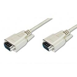 ASSMANN Electronic - 1.8m D-Sub15 cable VGA 1,8 m VGA (D-Sub) Beige
