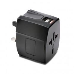 Kensington - K33998WW adaptador de enchufe eléctrico Universal Black
