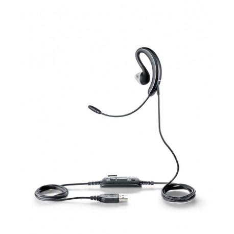 Jabra - UC VOICE 250 Monoaural gancho de oreja, Dentro de oído Negro auricular con micrófono