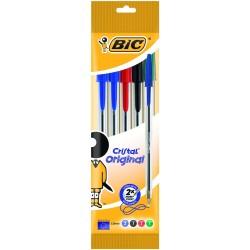 BIC - 802054 Bolígrafo Negro, Azul, Verde, Rojo 5pieza(s) bolígrafo
