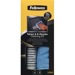 Fellowes - 9930501 kit de limpieza para computadora Líquido y paños secos para limpieza de equipos PC Tableta 120 ml