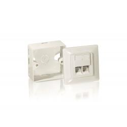 Equip - 125761 toma de corriente RJ-45 Blanco
