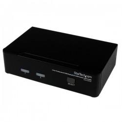 StarTech.com - Conmutador Switch Profesional KVM 2 Puertos Vídeo DisplayPort - USB con Audio - 2560x1600