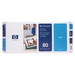 HP - Limpiador de cabezales de impresión y cabezal de impresión DesignJet 80 cian