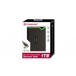 Transcend - StoreJet 25MC disco duro externo 1000 GB Negro, Verde