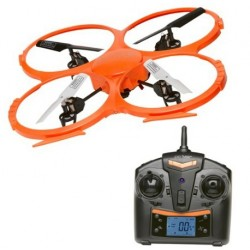 Denver - DCH-330 4rotors 2MP 1280 x 720Pixeles 500mAh Negro, Naranja, Color blanco dron con cámara
