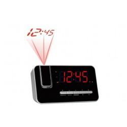 Denver Electronics - CRP-618 Reloj Digital Negro, Plata radio