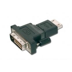 ASSMANN Electronic - AK-320500-000-S adaptador de cable DVI-D (18+1) HDMI A (F) Negro