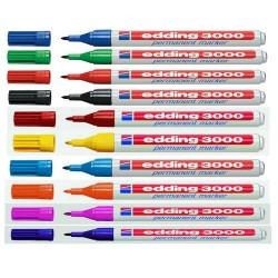 Edding - 3000 Azul 10pieza(s) marcador permanente