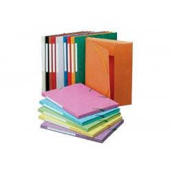 Exacompta - 3 flap folder with label, A4 Red