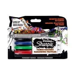 Sharpie - S0962141 Negro, Azul, Verde, Rojo 4pieza(s) marcador permanente