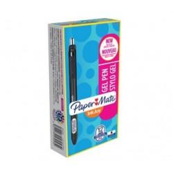Papermate - Inkjoy Gel Retractable gel pen Negro 12pieza(s)