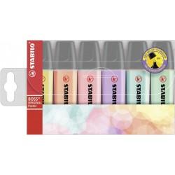 STABILO - BOSS ORIGINAL marcador 6 pieza(s) Lila, Menta, Melocotón, Rosa, Turquesa, Amarillo Punta de cincel