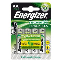 Energizer - Accu Recharge Power Plus 2000 AA BP4 Rechargeable battery Níquel-metal hidruro (NiMH)