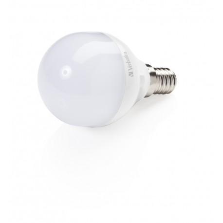 Verbatim - Mini Globe 4.5W E14 A+ Blanco cálido lámpara LED
