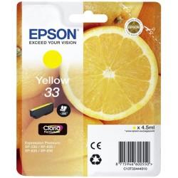 Epson - Oranges Singlepack Yellow 33 Claria Premium Ink - C13T33444022