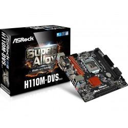 Asrock - H110M-DVS R3.0 LGA 1151 (Socket H4) Intel® H110 Micro ATX