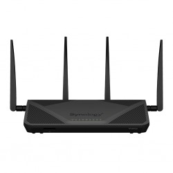 Synology - RT2600AC router inalámbrico Doble banda (2,4 GHz / 5 GHz) Gigabit Ethernet Negro