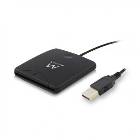 Ewent - EW1052 USB 2.0 Negro lector de tarjeta inteligente