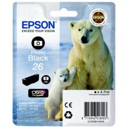 Epson - Polar bear Cartucho 26 negro foto (etiqueta RF)