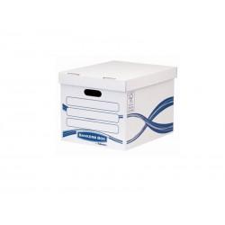 Fellowes - 4460801 caja de almacenaje Azul, Blanco Rectangular Papel