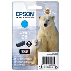 Epson - Polar bear Cartucho 26 cian - C13T26124012