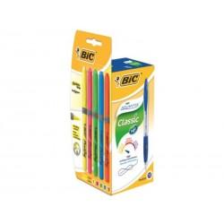 BIC - BIC PACK 12ATLANTIS AZUL+5FL GRIP 933975
