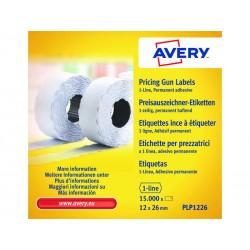Avery - 10 ROLLOS ETIQUETAS PERMANENT 12X26